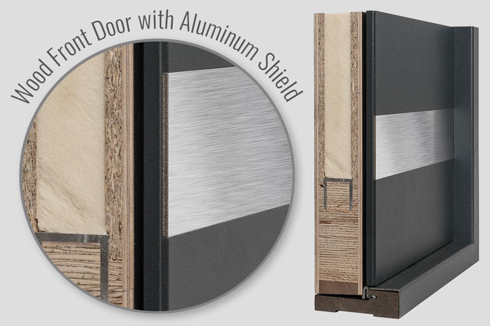 Aluminum Clad Door Structure
