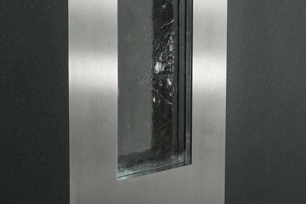 Aluminum Clad Door Glass Detail