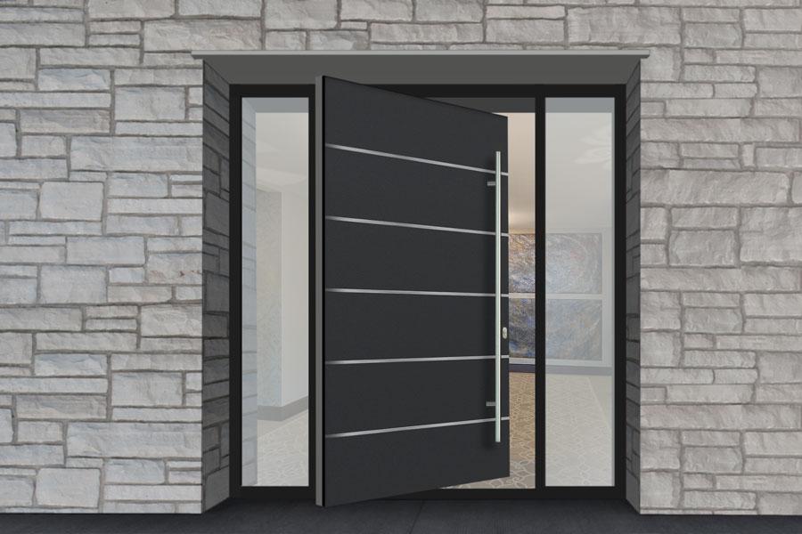 Aluminum Clad Pivot Door PVT-ALU