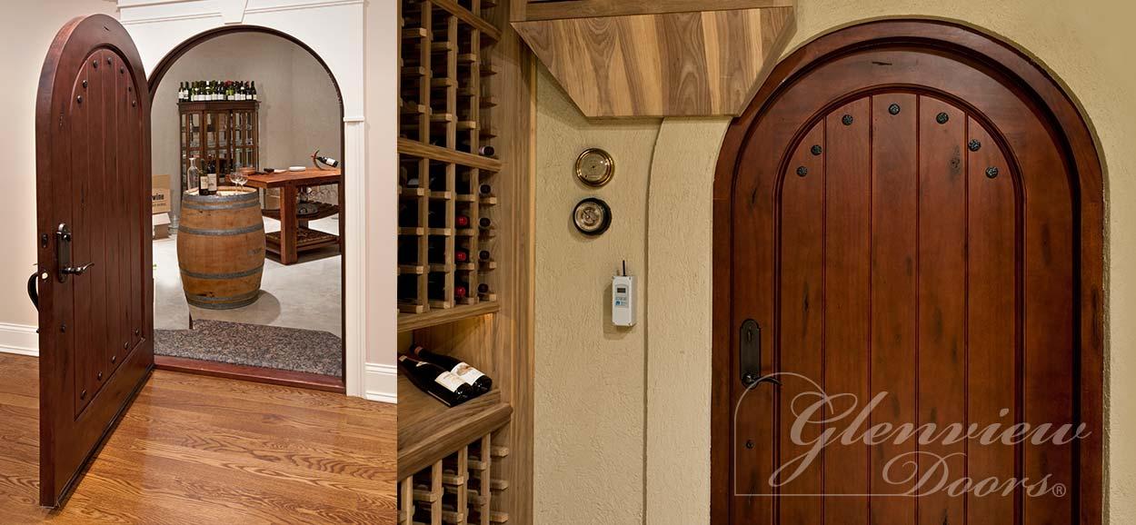 wine cellar doors from glenview doors, inc. | solid wood doors