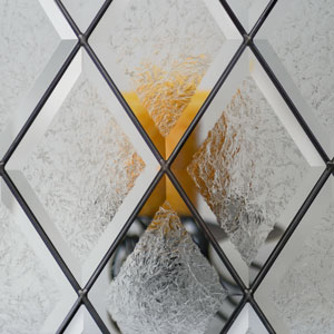 Diamond-Glue-Chip Door Glass