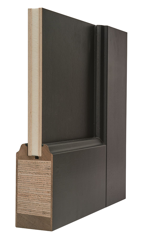Entry door in stock single with 2 sidelites solid for Flat solid wood door
