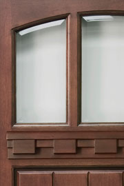 BEVELED TRANSPARENT GLASS - Wood Entry Doors