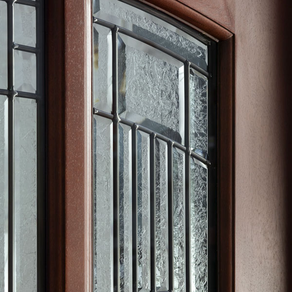 Wood Entry Doors Glue Chip Glass True Divided Leaded