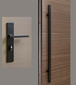 Rectangular-Sintesi Set - Black Door Hardware