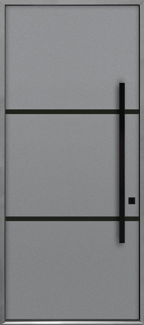 Aluminum Exterior Aluminum Clad Wood Front Door - Single - DB-ALU-B4B CST