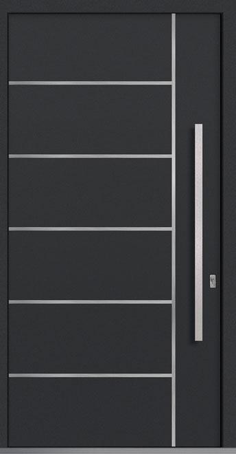 Aluminum Exterior Aluminum Clad Wood Front Door - Single - DB-PVT-ALU-B1 CST