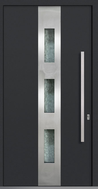 Aluminum Front  Door Example - Single, Exterior Aluminum Clad, Euro Technology with Exterior Aluminum Shield