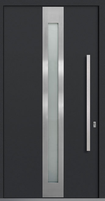 Aluminum Exterior Aluminum Clad Wood Front Door - Single - DB-PVT-ALU-D4 CST