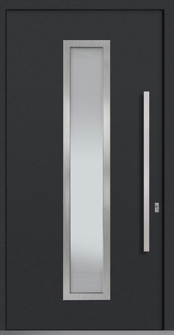 Aluminum Front  Door Example - Single, Exterior Aluminum Clad, Euro Technology with Exterior Aluminum Shield