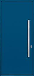 Custom Aluminum Front  Door Example, Exterior Aluminum Clad-Matte Blue DB-ALU-A1 CST