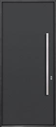 Custom Aluminum Front  Door Example, Exterior Aluminum Clad-Matte Dark Gray ALU-A1_Wood-Aluminum-Matte-Dark-Gray