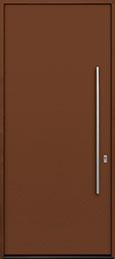 Custom Aluminum Front  Door Example, Exterior Aluminum Clad-Matte Fawn Brown DB-ALU-A1 CST