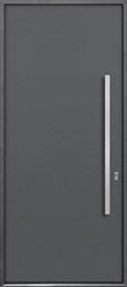 Custom Aluminum Front  Door Example, Exterior Aluminum Clad-Matte Gray DB-ALU-A1 CST