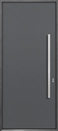 Custom Aluminum Front  Door Example, Exterior Aluminum Clad-Matte Gray ALU-A1_Wood-Aluminum-Matte-Gray