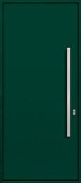 Custom Aluminum Front  Door Example, Exterior Aluminum Clad-Matte Green ALU-A1_Wood-Aluminum-Matte-Green