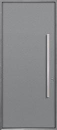 Custom Aluminum Front  Door Example, Exterior Aluminum Clad-Matte Light Gray ALU-A1_Wood-Aluminum-Matte-Light-Gray