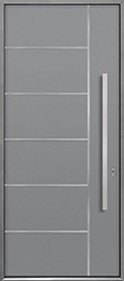 Custom Aluminum Front  Door Example, Exterior Aluminum Clad-Matte Light Gray ALU-B1_Wood-Aluminum-Matte-Light-Gray