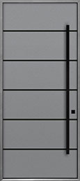Custom Aluminum Front  Door Example, Exterior Aluminum Clad-Matte Light Gray ALU-B3B_Wood-Aluminum-Matte-Light-Gray