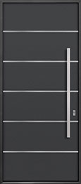 Custom Aluminum Front  Door Example, Exterior Aluminum Clad-Matte Dark Gray ALU-B3_Wood-Aluminum-Matte-Dark-Gray
