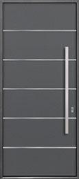 Custom Aluminum Front  Door Example, Exterior Aluminum Clad-Matte Gray ALU-B3_Wood-Aluminum-Matte-Gray