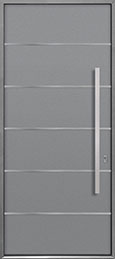 Custom Aluminum Front  Door Example, Exterior Aluminum Clad-Matte Light Gray ALU-B3_Wood-Aluminum-Matte-Light-Gray