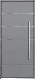 Custom Aluminum Front  Door Example, Exterior Aluminum Clad-Matte Light Gray DB-ALU-B3 CST