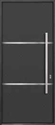 Custom Aluminum Front  Door Example, Exterior Aluminum Clad-Matte Dark Gray DB-ALU-B4 CST