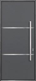 Custom Aluminum Front  Door Example, Exterior Aluminum Clad-Matte Gray ALU-B4_Wood-Aluminum-Matte-Gray
