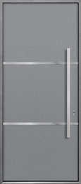 Custom Aluminum Front  Door Example, Exterior Aluminum Clad-Matte Light Gray ALU-B4_Wood-Aluminum-Matte-Light-Gray