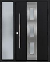 Custom Aluminum Front  Door Example, Exterior Aluminum Clad-Matte Black DB-ALU-C2-1SL CST