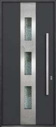 Custom Aluminum Front  Door Example, Exterior Aluminum Clad-Matte Dark Gray ALU-C2_Wood-Aluminum-Matte-Dark-Gray