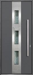 Custom Aluminum Front  Door Example, Exterior Aluminum Clad-Matte Gray ALU-C2_Wood-Aluminum-Matte-Gray
