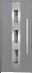 Custom Aluminum Front  Door Example, Exterior Aluminum Clad-Matte Light Gray DB-ALU-C2 CST