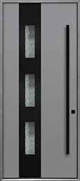Custom Aluminum Front  Door Example, Exterior Aluminum Clad-Matte Light Gray ALU-C3B_Wood-Aluminum-Matte-Light-Gray
