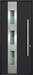 Custom Aluminum Front  Door Example, Exterior Aluminum Clad-Matte Black DB-ALU-C3 CST