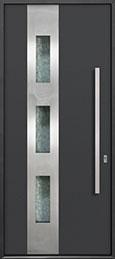 Custom Aluminum Front  Door Example, Exterior Aluminum Clad-Matte Dark Gray DB-ALU-C3 CST