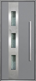 Custom Aluminum Front  Door Example, Exterior Aluminum Clad-Matte Light Gray ALU-C3_Wood-Aluminum-Matte-Light-Gray