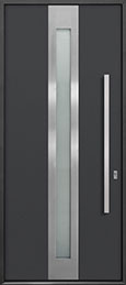 Custom Aluminum Front  Door Example, Exterior Aluminum Clad-Matte Dark Gray DB-ALU-D4 CST