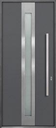 Custom Aluminum Front  Door Example, Exterior Aluminum Clad-Matte Gray ALU-D4_Wood-Aluminum-Matte-Gray