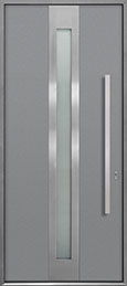 Custom Aluminum Front  Door Example, Exterior Aluminum Clad-Matte Light Gray ALU-D4_Wood-Aluminum-Matte-Light-Gray