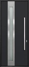 Custom Aluminum Front  Door Example, Exterior Aluminum Clad-Matte Black ALU-D5_Wood-Aluminum-Matte-Black