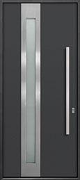 Custom Aluminum Front  Door Example, Exterior Aluminum Clad-Matte Dark Gray ALU-D5_Wood-Aluminum-Matte-Dark-Gray
