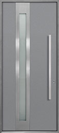 Custom Aluminum Front  Door Example, Exterior Aluminum Clad-Matte Light Gray ALU-D5_Wood-Aluminum-Matte-Light-Gray
