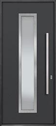 Custom Aluminum Front  Door Example, Exterior Aluminum Clad-Matte Dark Gray ALU-E4_Wood-Aluminum-Matte-Dark-Gray