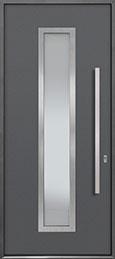 Custom Aluminum Front  Door Example, Exterior Aluminum Clad-Matte Gray ALU-E4_Wood-Aluminum-Matte-Gray