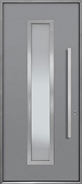 Custom Aluminum Front  Door Example, Exterior Aluminum Clad-Matte Light Gray ALU-E4_Wood-Aluminum-Matte-Light-Gray