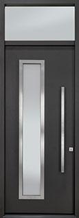 Custom Aluminum Front  Door Example, Exterior Aluminum Clad-Matte Dark Gray ALU-E5_TR_Wood-Aluminum-Matte-Dark-Gray