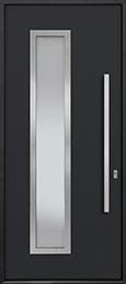 Custom Aluminum Front  Door Example, Exterior Aluminum Clad-Matte Black ALU-E5_Wood-Aluminum-Matte-Black