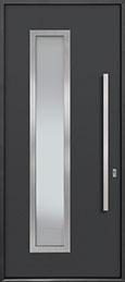 Custom Aluminum Front  Door Example, Exterior Aluminum Clad-Matte Dark Gray ALU-E5_Wood-Aluminum-Matte-Dark-Gray